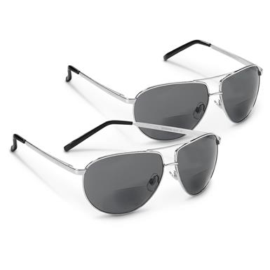 2 Global Vision Aviator Bifocal Sunglasses