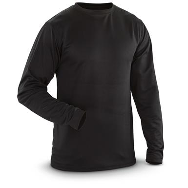 Guide Gear Men's Midweight Base Layer Shirt, Black