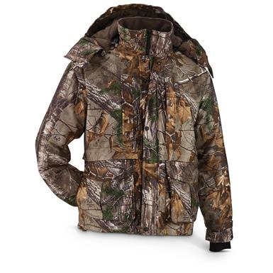 Guide Gear® Men's Waterproof / Guide Dry Hunting Jacket, Realtree Xtra