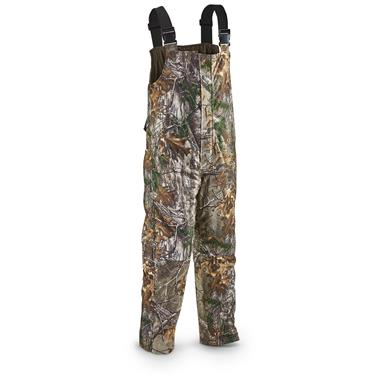 Guide Gear Men's Guide Dry Hunt Bibs, Waterproof, Insulated, Realtree Xtra