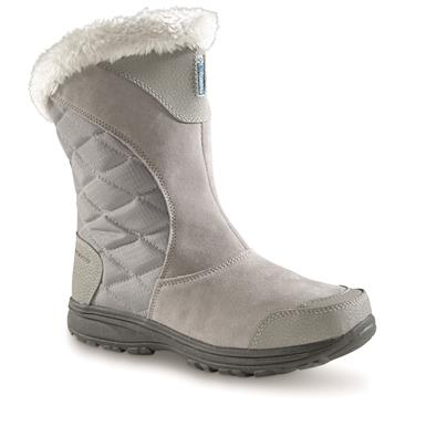 Columbia Women's Ice Maiden II Slip-On Waterproof Boots, Light Gray