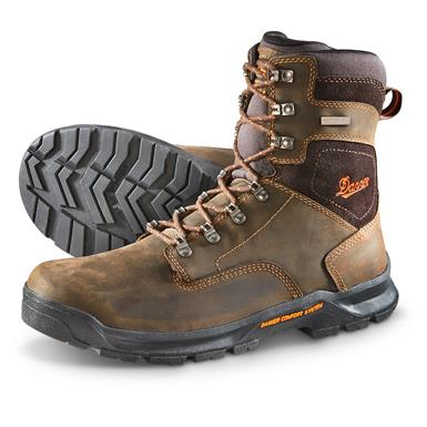 "Danner Men's Crafter Waterproof 8"" Safety Toe Work Boots, Brown"