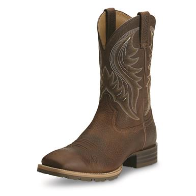 Ariat Men's Hybrid Rancher Western Boots, Brown Oiled Rowdy