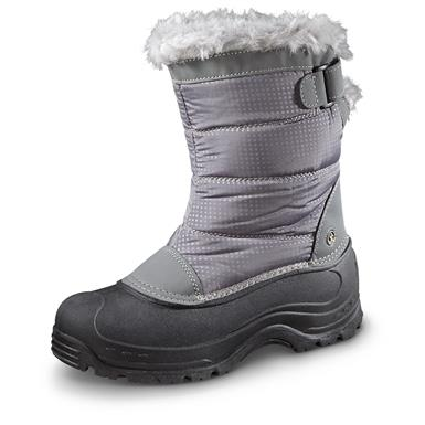 Northside Women's Saint Helens Front-Zip Insulated Boots, 200 Grams, Gray