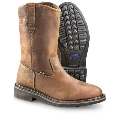 Wolverine Men's Brek Steel Toe Wellington Work Boots, Dark Brown