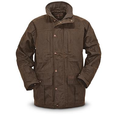 Outback Trading Deer Hunter Waterproof Oilskin Jacket, Bronze