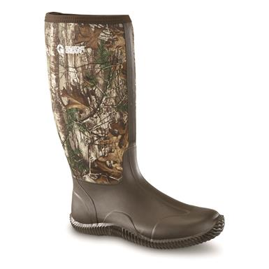 Guide Gear Women's High Camo Rubber Boots, Realtree Xtra