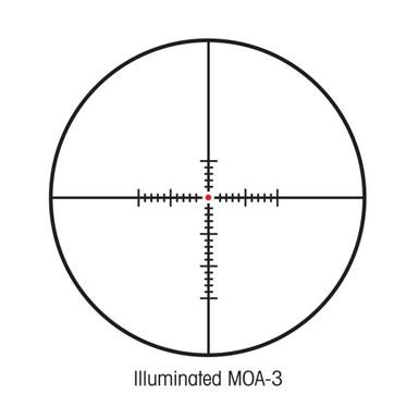 Illuminated MOA-3 Reticle