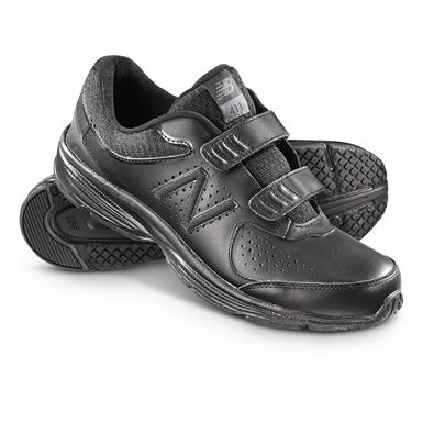 New Balance Men's 411v2 Strap Walking Shoes, Black