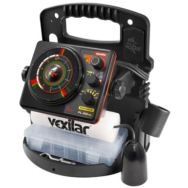 Vexilar FL-22 Ice Pro Flasher Fishfinder with 12 Degree Ice-Ducer, IP2212