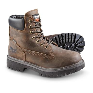 "Timberland PRO Men's Direct Attach 6"" Waterproof Work Boots, Brown"
