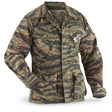 U.S. Military-style Tiger Stripe BDU Jacket, Reproduction