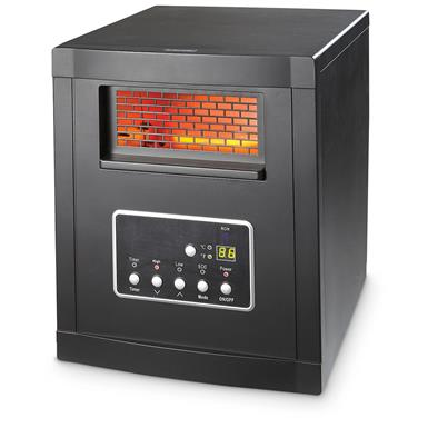 Compact Infrared Indoor Room Heater with Remote