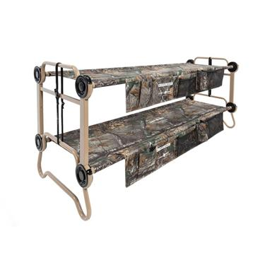 Large Cam-O-Bunk Portable Bunk Bed with Organizers in Realtree Xtra Camo