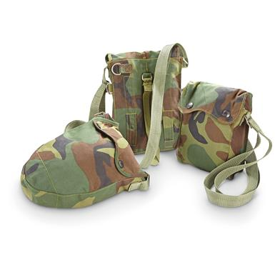 Chinese Military Surplus Shoulder Bag Set, 3 Piece, New