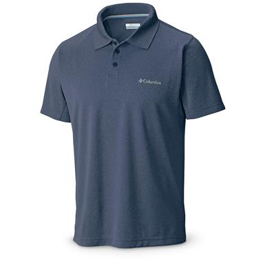 Columbia Men's New Utilizer Polo Shirt, Night Tide Heather