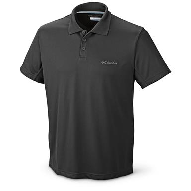 Columbia Men's New Utilizer Polo Shirt, Black