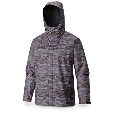Columbia Men's Watertight II Jacket, Black Camo