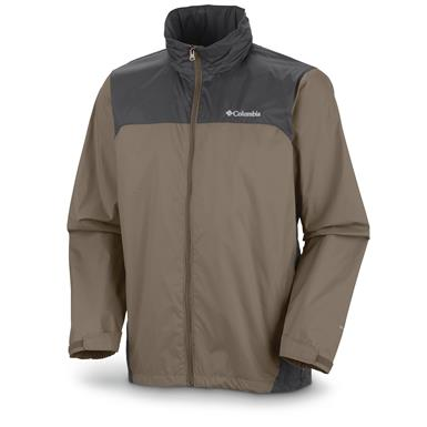 Columbia Men's Glennaker Lake Rain Jacket, Tusk Grill