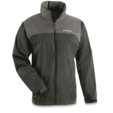 Columbia Men's Glennaker Lake Rain Jacket, Black / Grill
