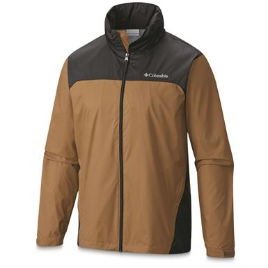 Columbia Men's Glennaker Lake Rain Jacket, Delta / Black