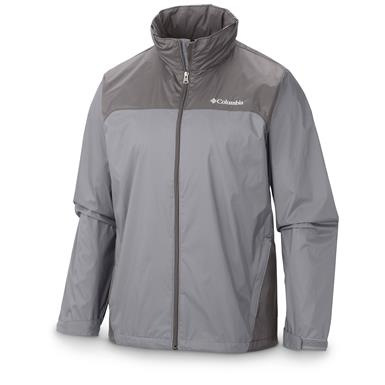 Columbia Men's Glennaker Lake Rain Jacket, Columbia Gray / Boulder