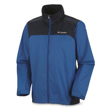 Columbia Men's Glennaker Lake Rain Jacket, Blue Jay/Columbia Navy