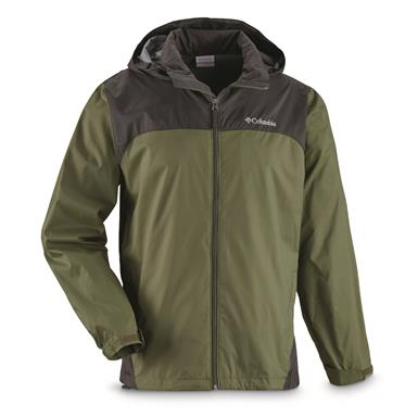 Columbia Men's Glennaker Lake Rain Jacket, Mosstone/Shark