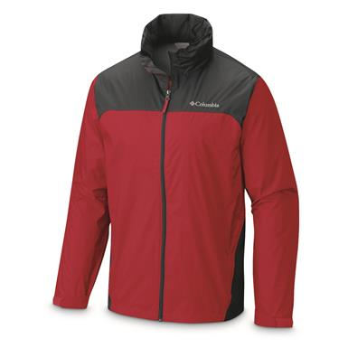 Columbia Men's Glennaker Lake Rain Jacket, Mountain Red/Graphite