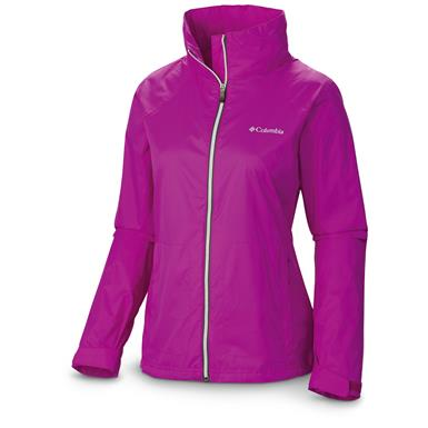 Women's Columbia Switchback II Waterproof Jacket, Bright Plum