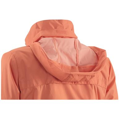 Stow-away protective hood is ready when you need it
