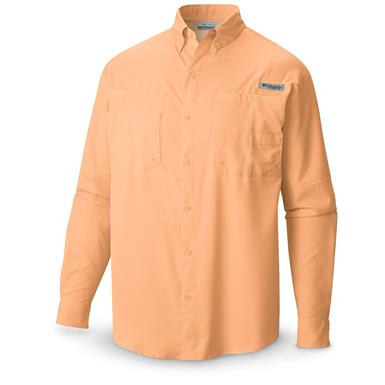 Columbia Men's PFG Tamiami II Long-Sleeve Shirt, Peach
