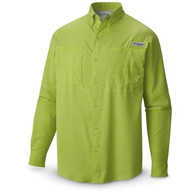 Columbia PFG Men's Tamiami II Long-Sleeve Shirt, Nappa Green