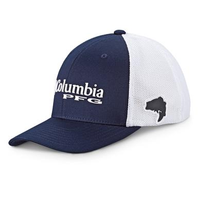 Columbia PFG Men's Mesh Ball Cap, Collegiate Navy