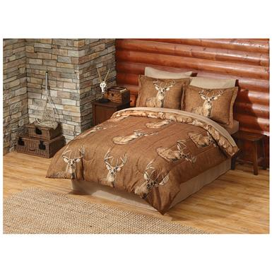 Buck Wear Trophy Complete Bed Set, Brown