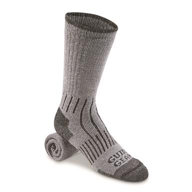 Guide Gear Midweight Lifetime Socks with NanoGLIDE, 3 Pairs, Charcoal