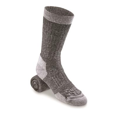 Guide Gear Heavyweight Lifetime Socks with NanoGLIDE, 3 Pairs, Gray