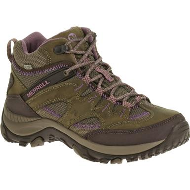 Women's Merrell Salida Hiking Boots, Waterproof, Mid, Brindle