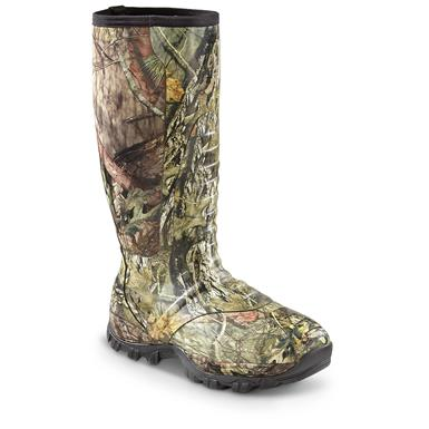 Guide Gear Men's Wood Creek Rubber Hunting Boots, Waterproof, Mossy Oak Break-Up Country