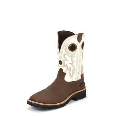 Tony Lama Bark Cheyenne 3R Work Boots, RR3302, Composite Toe, Waterproof , Bark Cheyenne