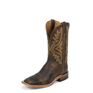 Tony Lama Tan Worn Goat Americana Cowboy Boots, 11 inch, 7956, Tan Brown