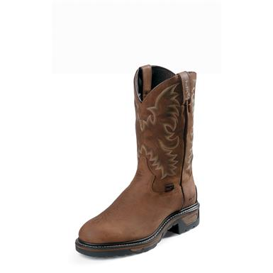 Tony Lama TLX Tan Cheyenne Work Boots, Waterproof, Steel Toe, TW1019, Tan Cheyenne
