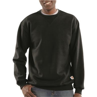 Carhartt Men's Crew Neck Sweatshirt, Black