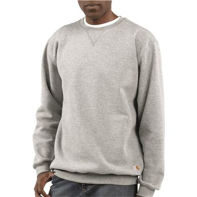 Carhartt Men's Crew Neck Sweatshirt, Heather Gray