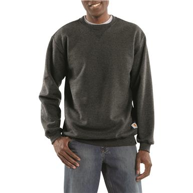 Carhartt Men's Crew Neck Sweatshirt, Carbon Heather