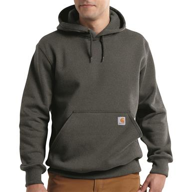 Carhartt Men's Rain Defender Paxton Hoodie, Carbon Heather