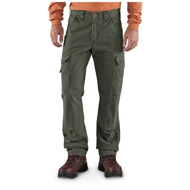 Carhartt Men's Cargo Work Pants, Moss