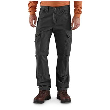 Carhartt Men's Cargo Work Pants, Black