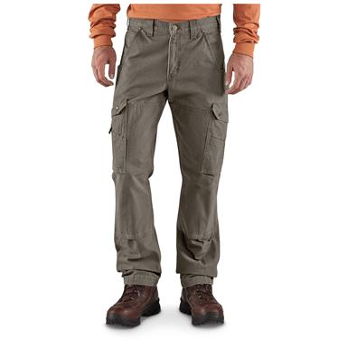 Carhartt Men's Cargo Work Pants, Dark Coffee