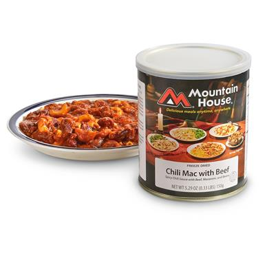 Mountain House Freeze-Dried Chili Mac with Beef, 2 Pack